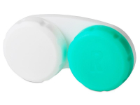 Kontaktní čočky - Pouzdro na čočky zeleno-bílé