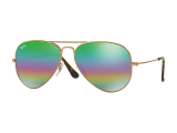Kontaktní čočky - Ray-Ban Aviator Mineral Flash Lenses RB3025 9018C3