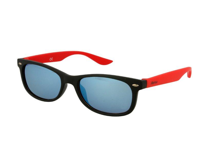 Image of Kinder Sonnenbrille Alensa Sport Black Red Mirror