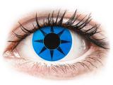 Kontaktní čočky - ColourVUE Crazy Lens - Blue Star - nedioptrické