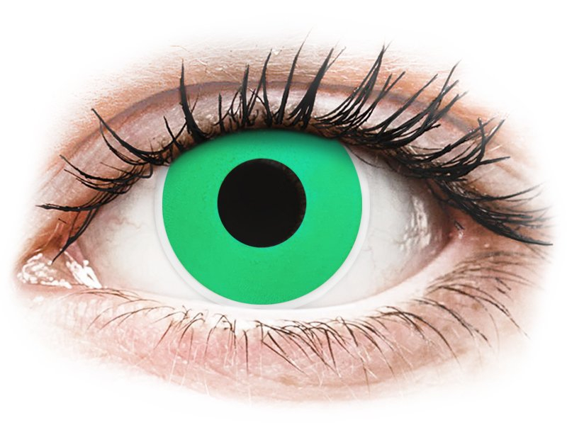 Maxvue Vision ColourVUE Crazy Lens - nedioptrické (2 čočky) Emerald (Green) dioptrie 0.00, zakřivení 8.60, průměr 14.00