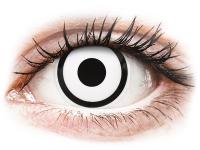 Kontaktní čočky - ColourVUE Crazy Lens - White Zombie - nedioptrické