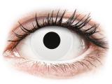 Kontaktní čočky - ColourVUE Crazy Lens - WhiteOut - nedioptrické