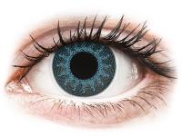Kontaktní čočky - ColourVUE Crazy Lens - Solar Blue - dioptrické