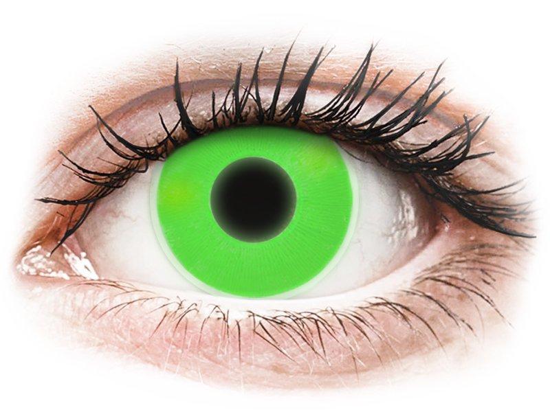 Maxvue Vision ColourVUE Crazy Glow - nedioptrické (2 čočky) Green dioptrie 0.00, zakřivení 8.60, průměr 14.00