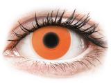 Kontaktní čočky - ColourVUE Crazy Glow Orange - nedioptrické