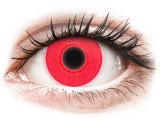 Kontaktní čočky - ColourVUE Crazy Glow Red - nedioptrické