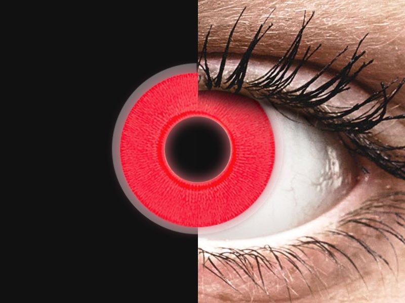 ab55ee53c Červené svítící čočky ColourVUE Crazy Glow – Red – nedioptrické