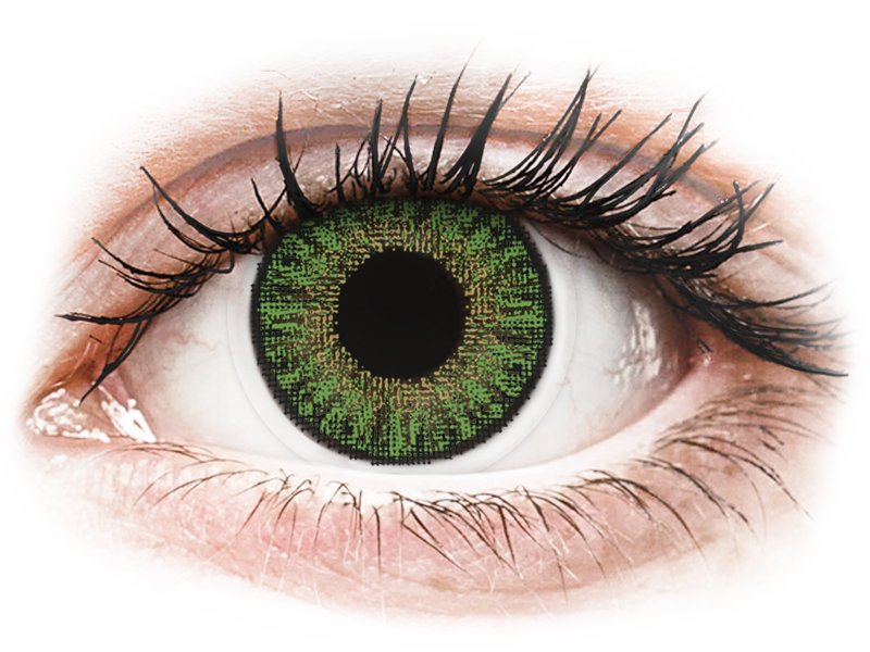 TopVue Color - dioptrické jednodenní (10 čoček) Green dioptrie +5.75, zakřivení 8.60, průměr 14.20