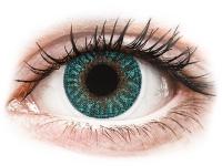 Kontaktní čočky - TopVue Color - Turquoise - nedioptrické