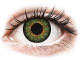 Kontaktní čočky - ColourVUE Glamour Green - dioptrické