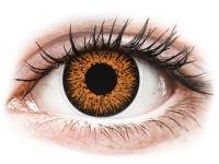Kontaktní čočky - ColourVUE Glamour Honey - dioptrické