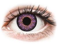 Kontaktní čočky - ColourVUE Glamour Violet - nedioptrické