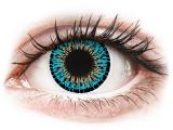 Kontaktní čočky - ColourVUE Elegance Blue - nedioptrické