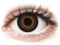 Kontaktní čočky - ColourVUE Eyelush Brown - nedioptrické