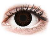 Kontaktní čočky - ColourVUE Eyelush Choco - nedioptrické