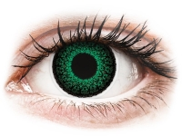 Kontaktní čočky - ColourVUE Eyelush Green - dioptrické