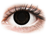 Kontaktní čočky - ColourVUE BigEyes Dolly Black - nedioptrické