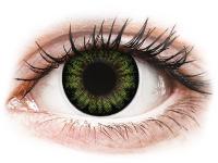 Kontaktní čočky - ColourVUE BigEyes Party Green - nedioptrické