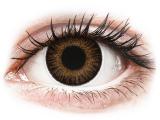 Kontaktní čočky - ColourVUE 3 Tones Brown - nedioptrické