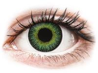 Kontaktní čočky - ColourVUE Fusion Green Yellow - dioptrické