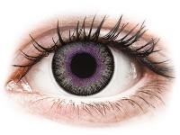 Kontaktní čočky - ColourVUE Fusion Violet Gray - nedioptrické