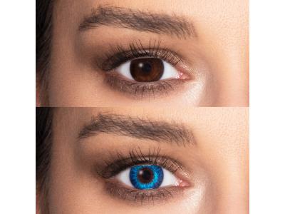 Air Optix Colors - Brilliant Blue - dioptrické (2čočky)