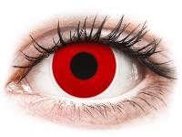 Kontaktní čočky - ColourVUE Crazy Lens - Red Devil - nedioptrické jednodenní
