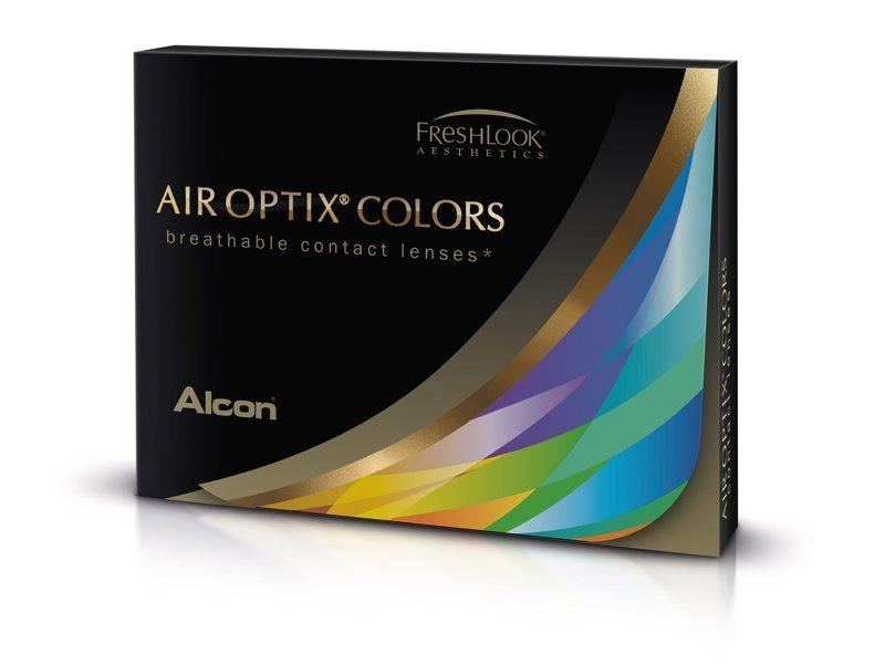 Alcon Air Optix Colors - dioptrické (2 čočky) barevné barva Brown, dioptrie -5.50, zakřivení 8.60, průměr 14.20
