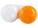 Kontaktní čočky - Pouzdro na čočky 3D - oranžové