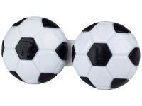 Kontaktní čočky - Pouzdro na čočky Fotbal - černé