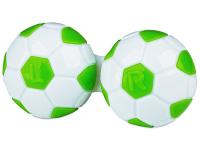 Kontaktní čočky - Pouzdro na čočky Fotbal - zelené