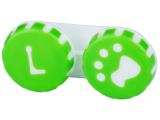 Kontaktní čočky - Pouzdro na čočky Tlapka - zelené