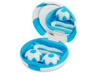 Kontaktní čočky - Kazetka Fotbalový míč - modrá