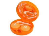 Kontaktní čočky - Kazetka s ornamentem - oranžová