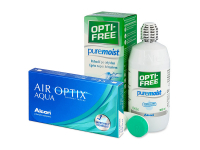 Kontaktní čočky - Air Optix Aqua (3 čočky)