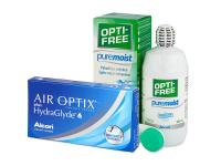 Kontaktní čočky - Air Optix plus HydraGlyde (3 čočky)