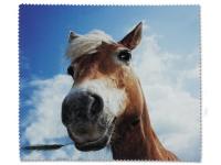 Kontaktní čočky - Čisticí hadřík na brýle - kůň