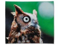 Kontaktní čočky - Čisticí hadřík na brýle - sova