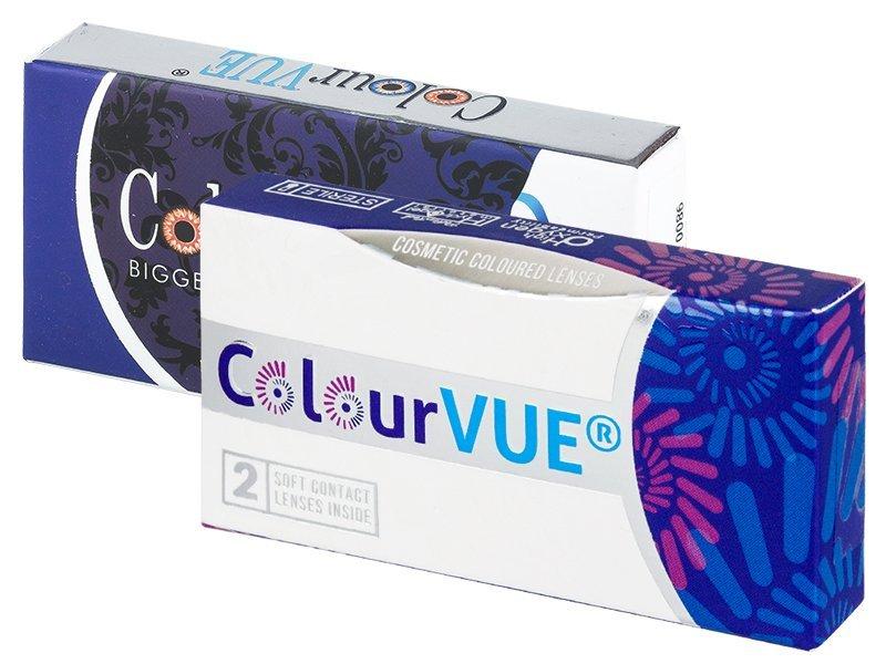 Maxvue Vision ColourVUE - BigEyes - dioptrické (2 čočky) barevné barva Dolly Black, dioptrie -6.00, zakřivení 8.60, průměr 14.00