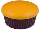 Kontaktní čočky - Kazetka se zrcátkem Muffin - oranžová