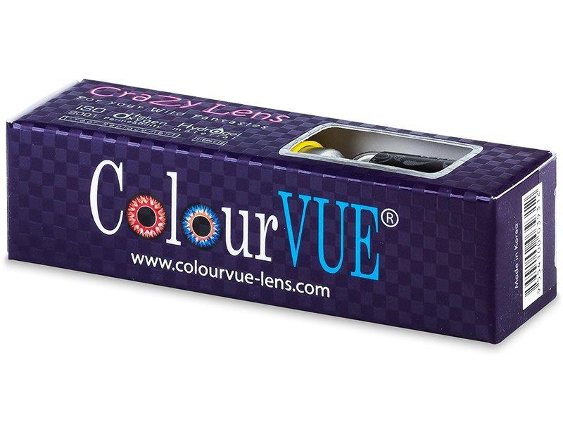 Maxvue Vision Crazy ColourVUE (2 čočky) barevné barva Blue Star, dioptrie 0.00, zakřivení 8.60, průměr 14.00