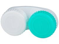 Kontaktní čočky - Pouzdro na čočky zeleno-bílé se znaky L+R