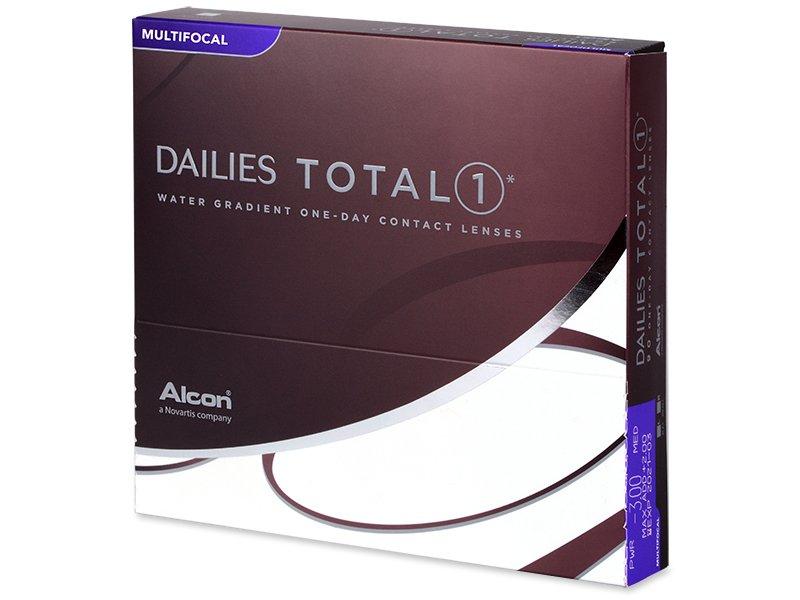 Alcon Dailies TOTAL1 Multifocal (90 čoček) dioptrie -1.75, Add power LO (MAX ADD +1.25), zakřivení 8.50, průměr 14.10