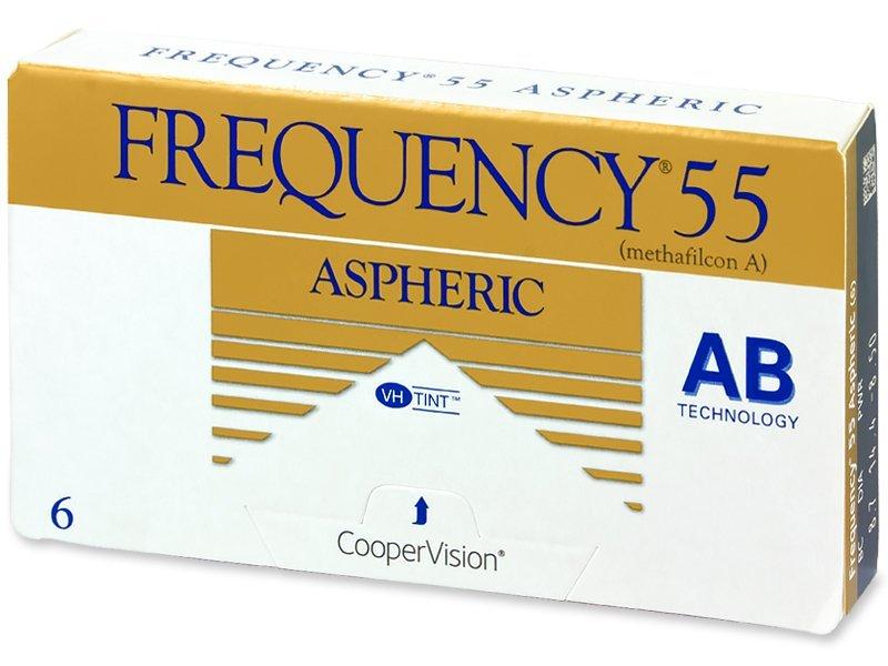 CooperVision Frequency 55 Aspheric (6 čoček) dioptrie +6.00, zakřivení 8.70, průměr 14.40